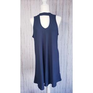 Derek Heart Dress- Large, Dusty Blue
